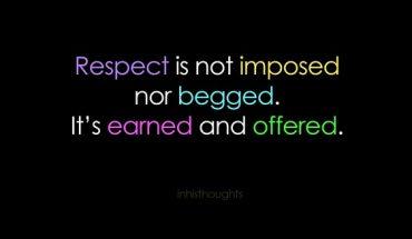 amazing respect quotes